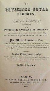 Le Pâtissier Pittoresque - Antonin Carême