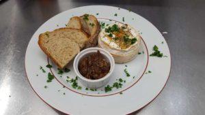 Café de la Poste, Edimbourg - Camembert et pain